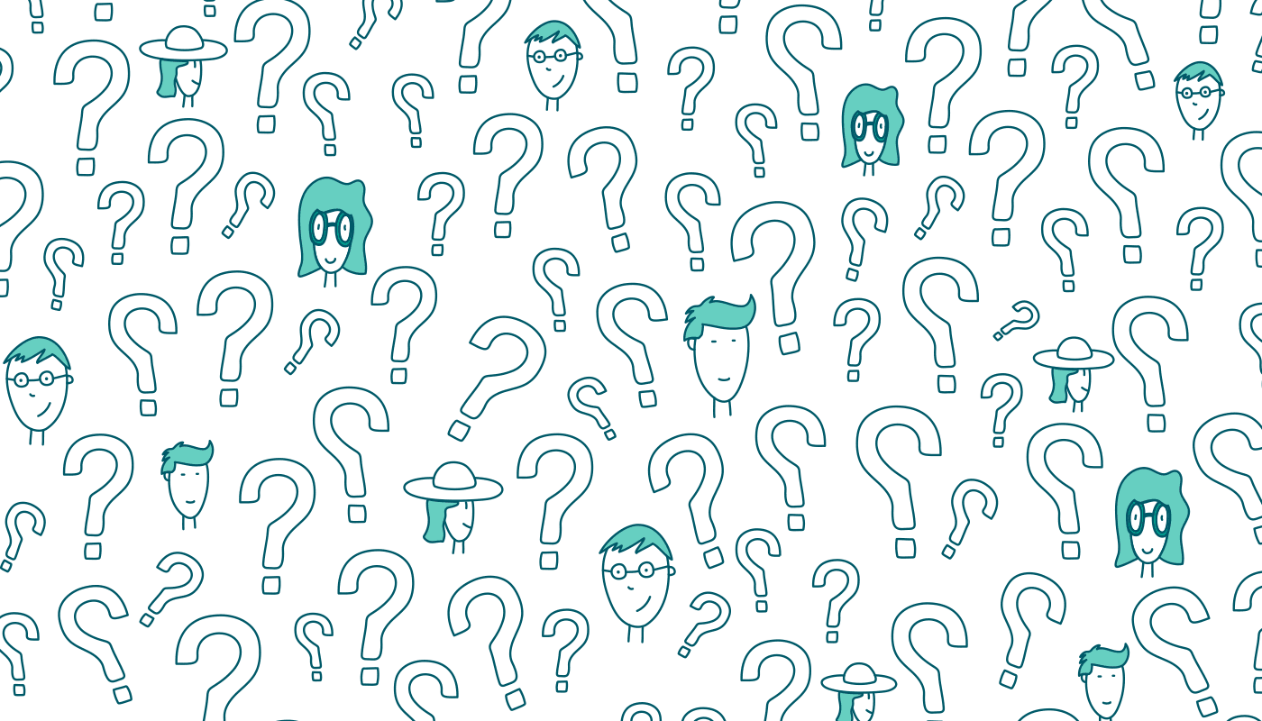 Drawings of question marks and people's heads (768x439)