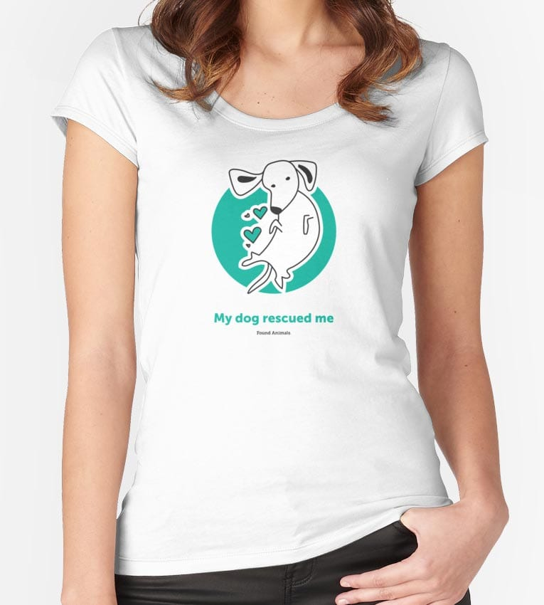 'My dog rescued me' white Women's t-shirt